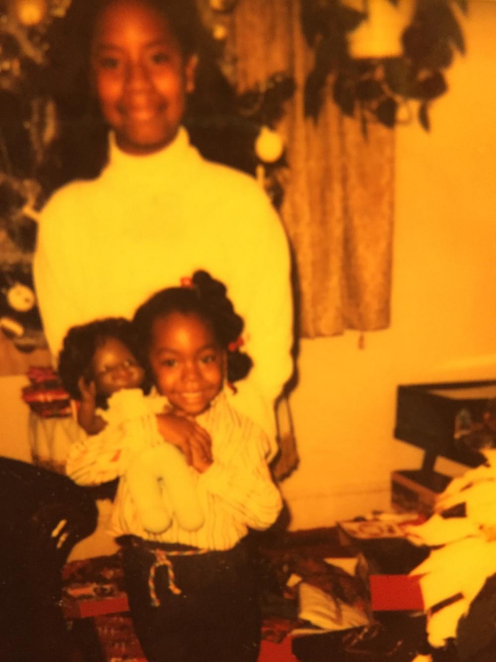 My sister and I Christmas 1983