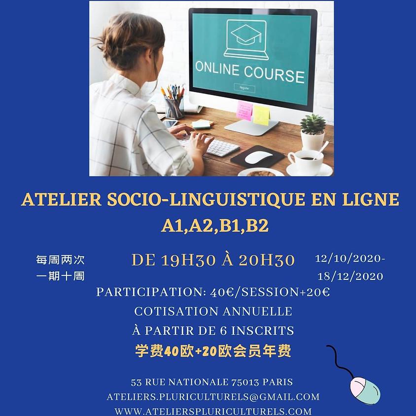 L'atelier socio-linguistique en ligne A1,A2,B1,B2