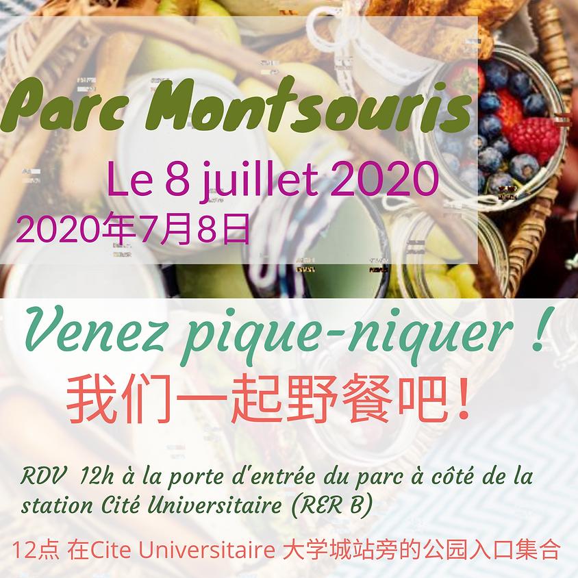 Pique-nique au Parc Montsouris Le 8 juillet 2020