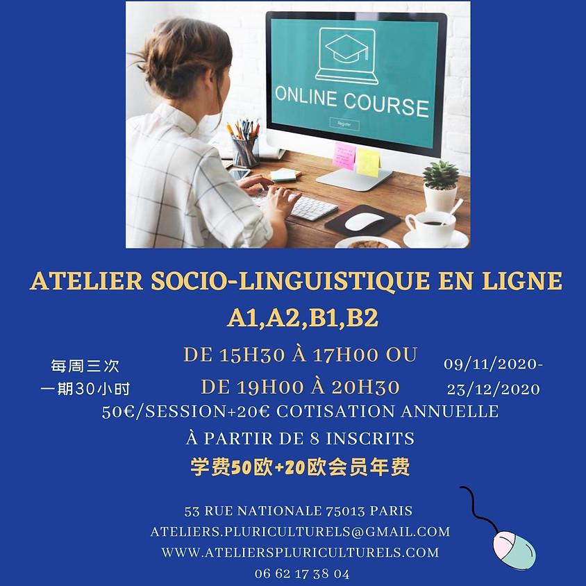 Atelier socio-linguistique en ligne     A1,A2,B1,B2