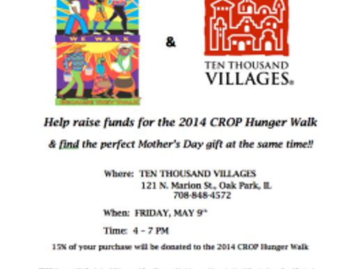 10,000 Village Sale for CROP Hunger Walk