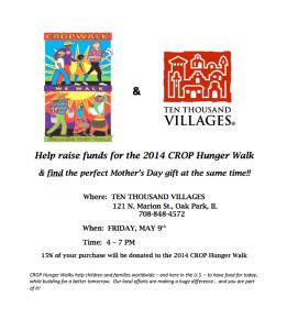 10000 Villages CROP Flyer