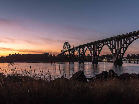 Newport, Oregon Coast - Yaquina Bay Bridge During a Summer Sunset