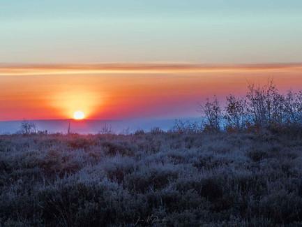 Steens Mountain, Eastern Oregon Desert - Pink Sunset