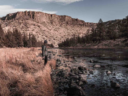 Central Oregon Desert - Person Standing Next to the Crooked River