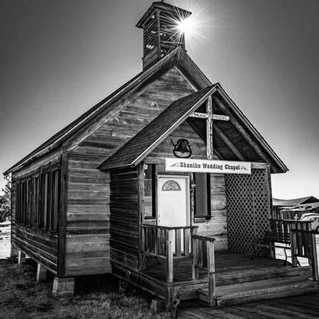 Shaniko Oregon - Sunburst on a Historic Wooden Ghost Town Wedding Chapel