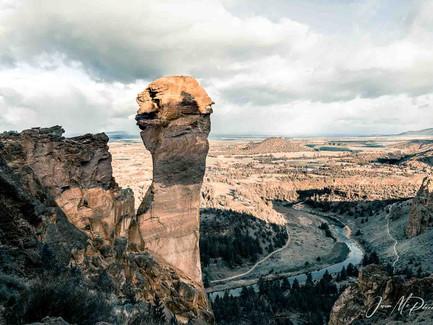 Central Oregon - Monkey Face At Smith Rock