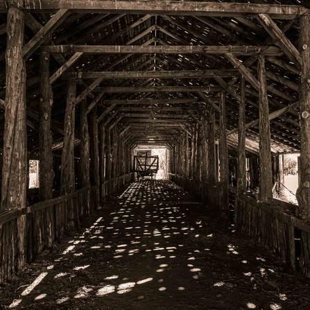 Eastern Oregon - Inside a Historic Pioneer Wooden Long Barn