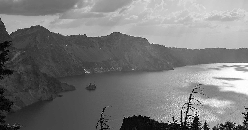 Black and White Crater Lake Oregon