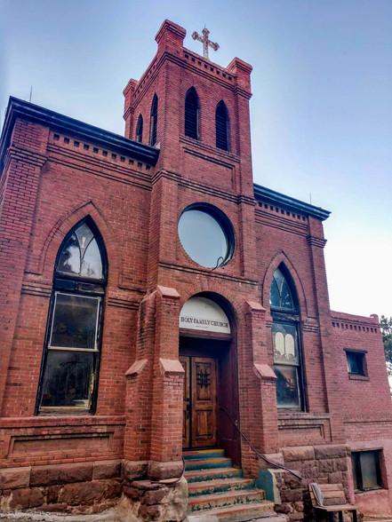 Brick church in Jerome, Arizona