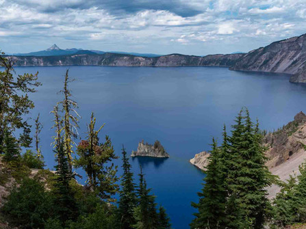 Crater Lake National Park - Phantom Ship in Deep Blue