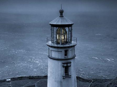 Heceta Head Lighthouse, Florence Oregon Coast - Monochrome