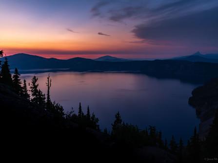 Crater Lake National Park - Purple Sunset