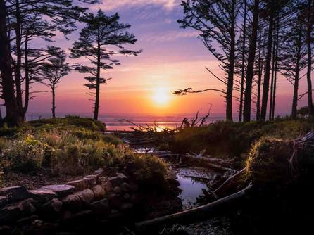 Oregon Coast - A Beautiful Sunset