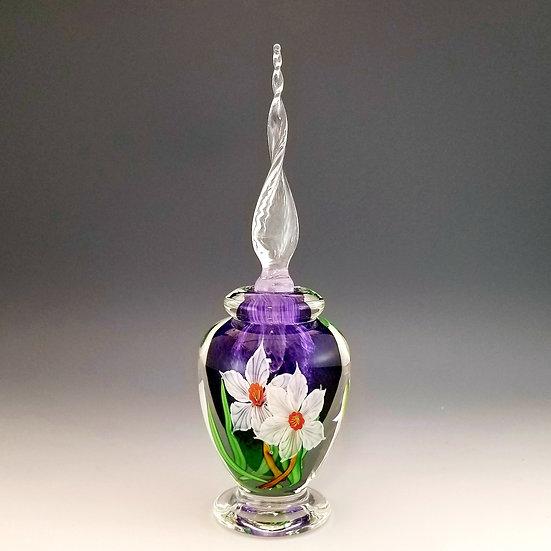 Perfume Bottle - white daffodils