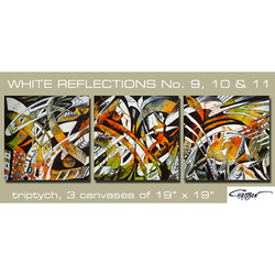 Reflections 9-11 - triptych - SOLD