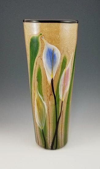 Lilies cylinder vase, large
