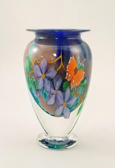 Mauve floral vase