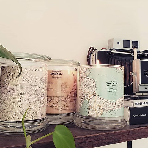 12 oz. Map Candle