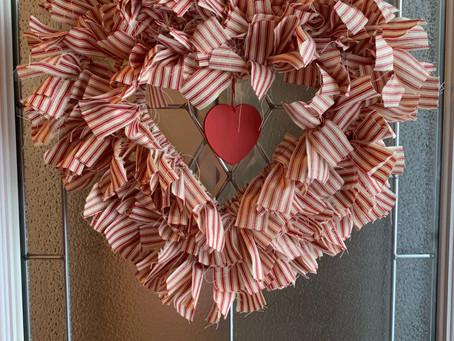 How to Make a Valentine Wreath