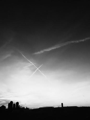 Writing in the Sky over Oberlin Farmstea