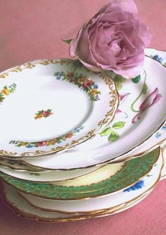 vintage side plates