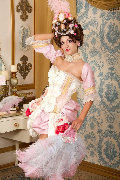 Rosy Blush Pink Marie Antoinette