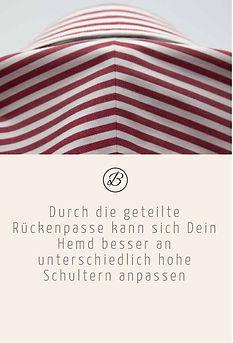 Befeni Muenchen München Munich | Durch die geteilte Rückenpasse kann sich Dein Hemd besser an unterschiedlich hohe Schultern anpassen