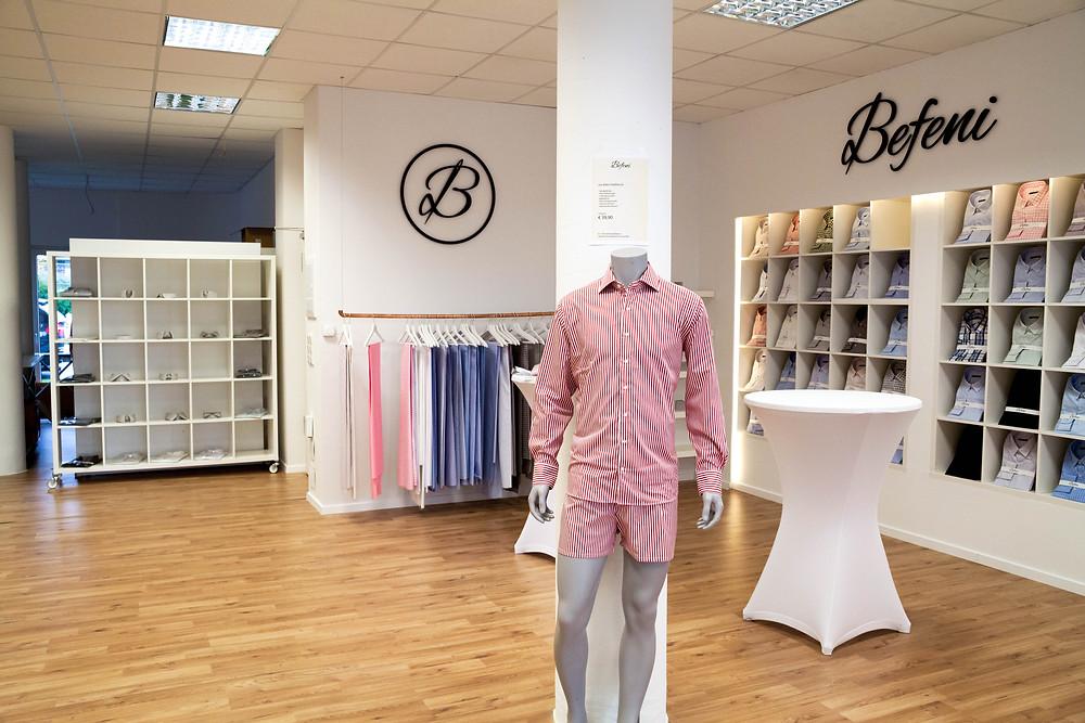 Befeni Showroom | Langenfeld | Dein Maßhemd