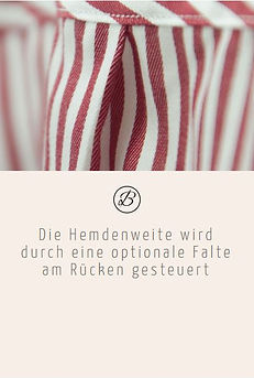 Befeni Muenchen München Munich | Die Hemdenweite wird durch eine optionale Falte am Rücken gesteuert