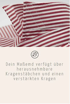 Befeni Muenchen München Munich | Dein Maßhemd verfügt über herausnehmbare Kragenstäbchen und einen verstärkten Kragen