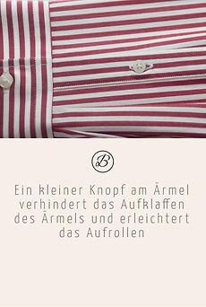 Befeni Muenchen München Munich | ein Kleiner Knopf am Ärmel verhindert das Aufklaffen des Ärmels und erleichtert das Aufrollen