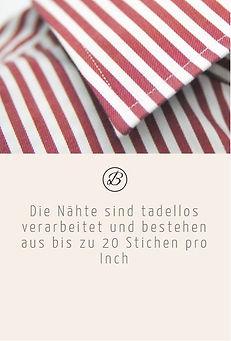 Befeni Muenchen München Munich | Die Nähte von dem Masshemd sind tadellos verarbeitet und bestehen aus bis zu 20 Stichen pro Inch Zoll