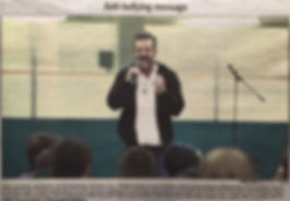 Jerry Trimble gives an Anti-Bullying Seminar in Alberta, Canada