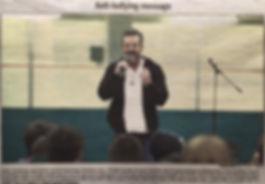 Jerry Trimble gives an Anti-Bullying Seminar in Alberta, Canada