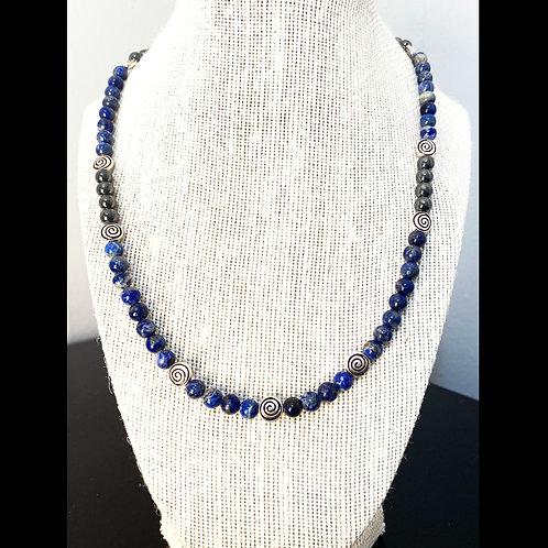 Lapis Lazuli & Hematite