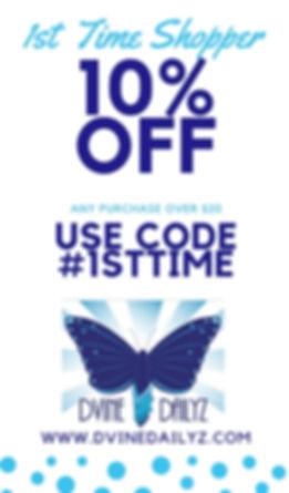 Promo Code 1st Time Shopper