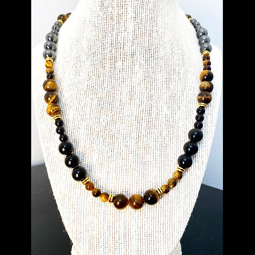 Black Obsidian, Tigers Eye & Hematite2