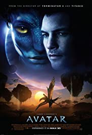 Avatar Movie poster - a epic sci-fi blockbuster focused on extraterrestrial exploration and futuristic technology