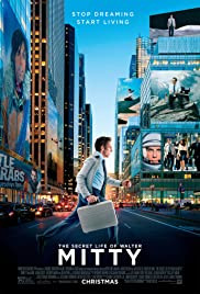 Secret Life of Walter Mitty movie poster - adventure comedy-drama produced by and starring Ben Stiller
