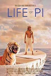 The Life of Pi movie poster - adventure drama film of an Indian man surviving shipwreck with Bengal Tiger