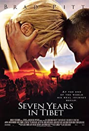 Seven Years in Tibet movie poster - adventure drama set in Himalayas based on true story of Heinrich Harrer