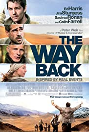 The Way Back movie poster - an epic 4,000 mile journey through vast and unforgiving Siberian landscape