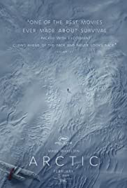 Arctic movie poster - thrilling survival and adventure drama set in the deep arctic