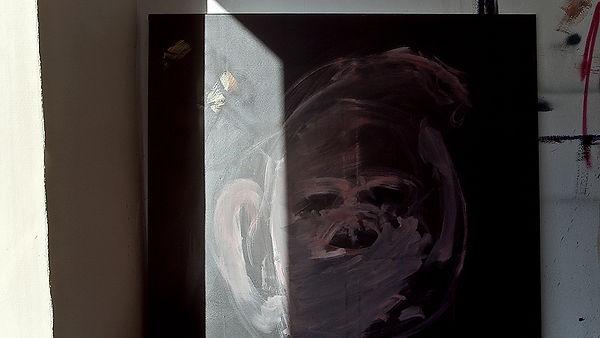 Abstraktes Gemälde im Licht