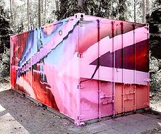 Graffiti auf Container – Sebastian Roese