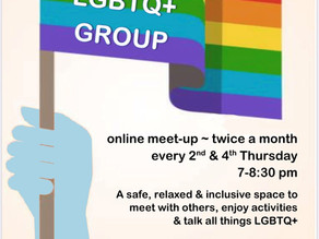 Be part of a safe, relaxed and inclusive space. LGBTQ+ GROUP