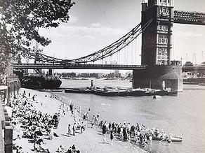 "HIDDEN LONDON [3] Tower Bridge & ""Ernies"" Beach on the Thames."