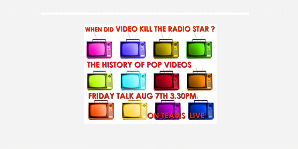 SUMMER TALKS WITH GREGG - THE HISTORY OF POP VIDEOS