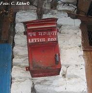 Postkasten Tatopani, Annapurna-Region, Nepal
